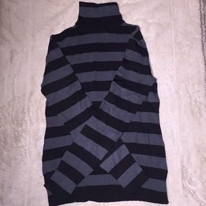 Black and gray striped turtleneck